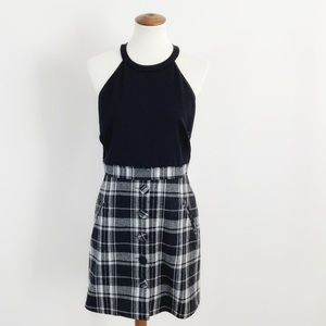 Timo Weiland Wool Blend Plaid Split Bottom Dress